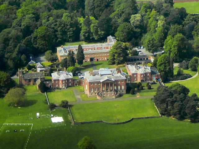 Cheshire, Tabley House and St Peter's Chapel (aerial)
