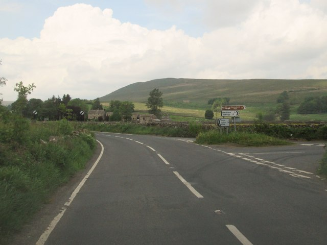 The  A684  at  the  Hardraw  road  junction