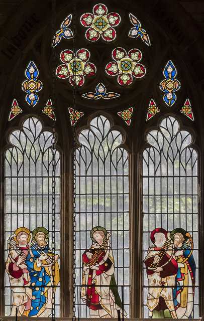 Musicians' window, St Mary's church, Scarborough