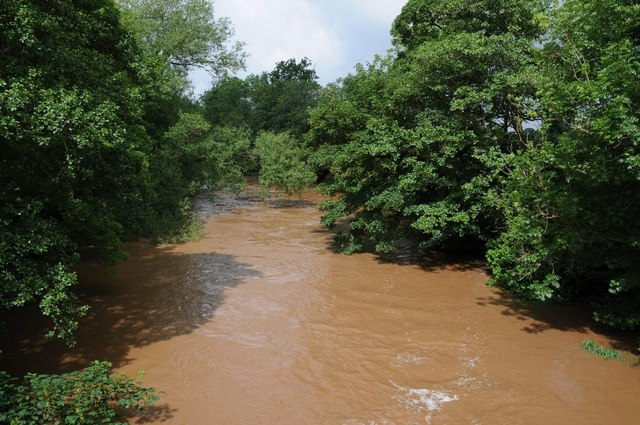 The River Teme in spate