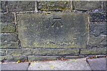 SE0724 : Benchmark on Rochdale Road wall by Roger Templeman