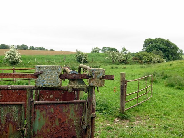 Farm machinery near Topley
