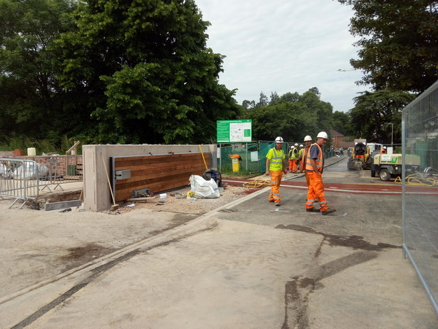 Installation of new flood gates