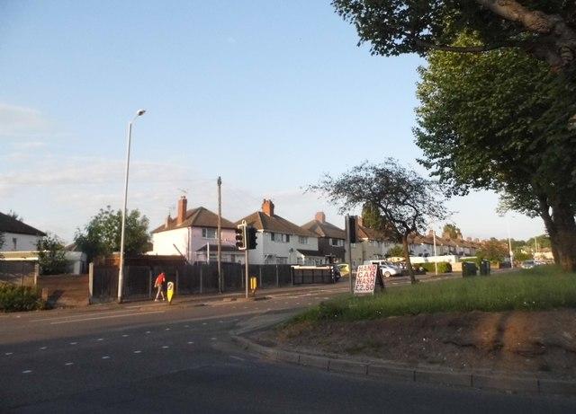 Elston Hall Lane at the corner of Fordhouse Lane