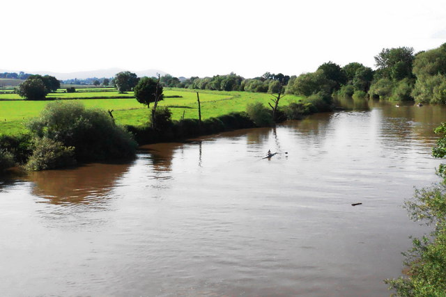 Rowing on the River Severn