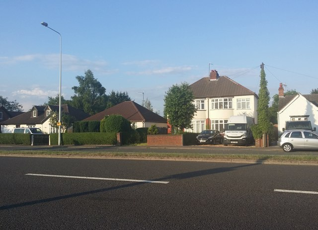 Houses on Stafford Road, Coven Heath
