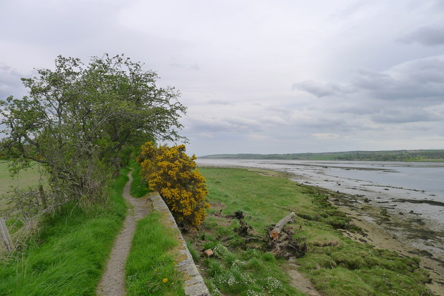 The Round Dingwall Walk alongside the estuarine mouth of the River Conon