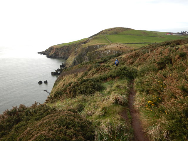 Clifftop footpath to Rascarrel Bay