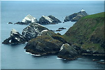 HP5917 : Stacks west of Hermaness Hill and Muckle Flugga from the Neap by Mike Pennington