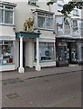 SY2490 : Golden Lion on top of a portico, Fore Street, Seaton by Jaggery