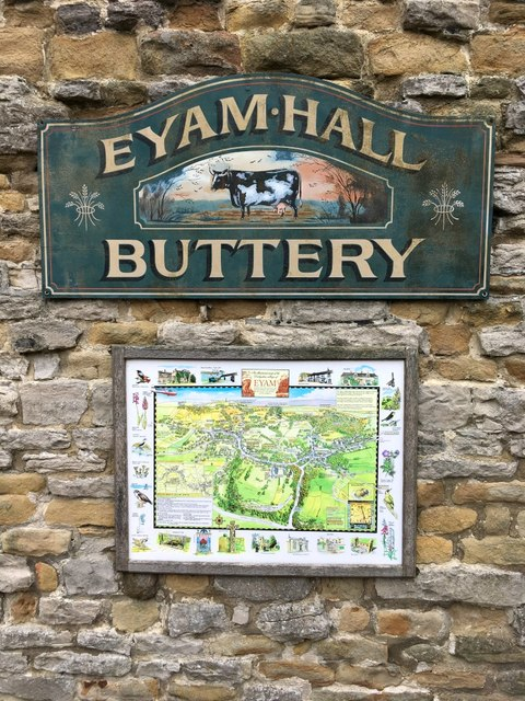 Eyam Hall Buttery sign