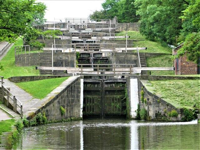 Bingley Five Rise Locks,  Leeds and Liverpool Canal