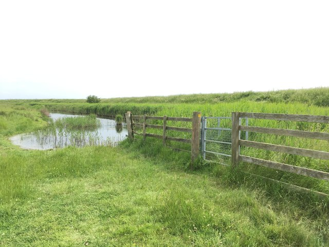 Crossing of dyke north of Elmley Ferry