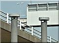 J3474 : Sewer vent pipes, Corporation Street, Belfast (June 2018) by Albert Bridge