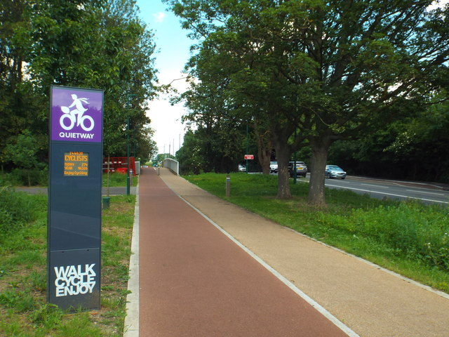 "Cycling ""Quietway"" near Clapton"