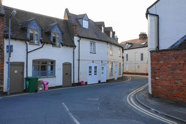 Narrow street in Upton-upon-Severn