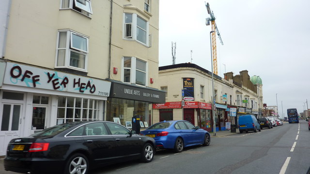 Junction of Kingsway and Sussex Road, Hove