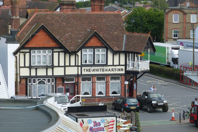 Unusual view of the White Hart Inn, East Cowes