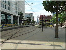 SJ8397 : St Peter's Square tram stop (1) by Carroll Pierce