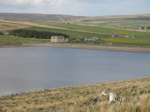 Burnhope Reservoir below High Whinsike