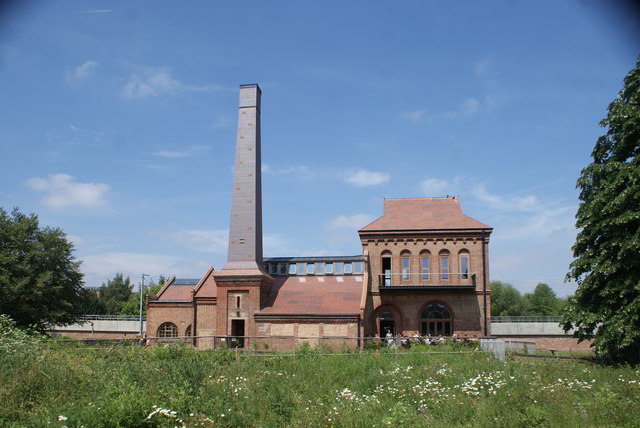 View of the Engine House from the Walthamstow Wetlands #2