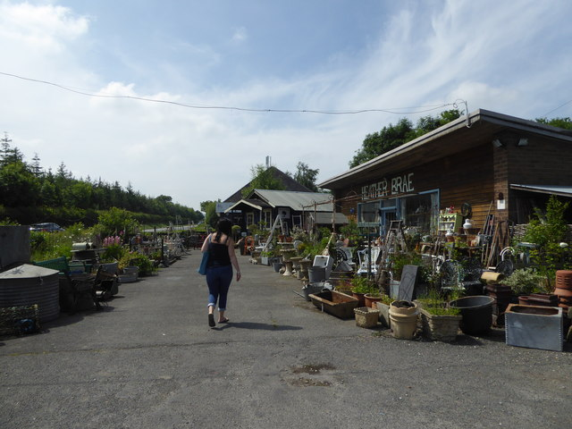 Scene at Heather Brae retail premises beside the A49 road near Leebotwood, Shropshire