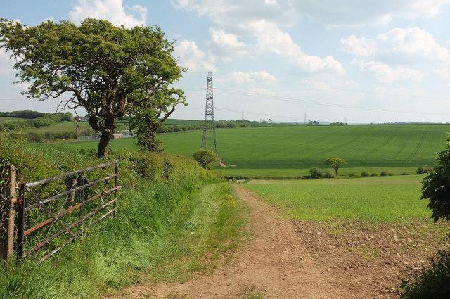 Farmland near Bulkworthy Moor