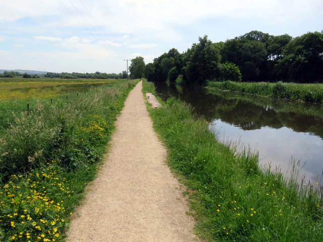 Towpath by the Leeds and Liverpool Canal Rufford Branch