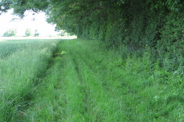 Footpath along the edge of The Hulls