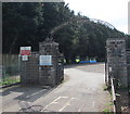 SO5012 : Monmouth Sports Ground entrance by Jaggery