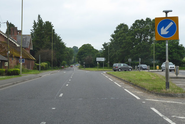 A27 / A3090 junction outside Romsey