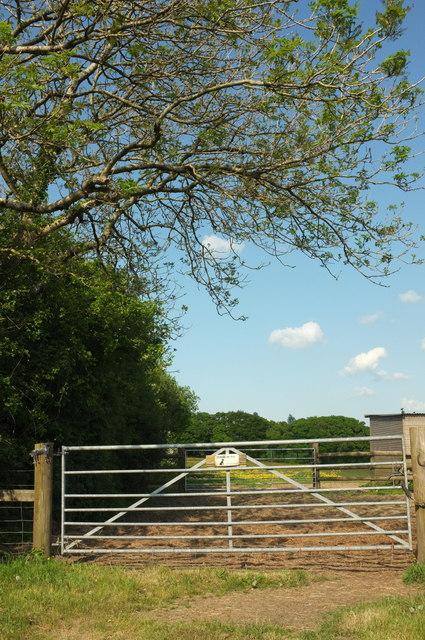 Field entrance near Higher Park