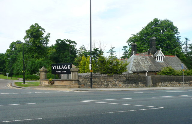 Entrance and Lodge to Spenfield, now the Village Hotel Headingley