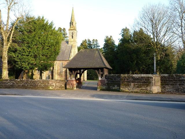 Christ Church's lychgate and boundary wall