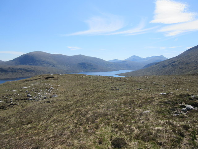 View from summit of Cleite na cos Cleit