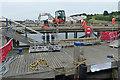 SZ0378 : Restoration work on Swanage Pier by Robin Drayton