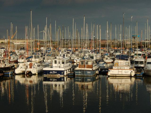 Yachts moored at Swansea