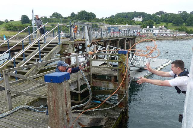 Berthing at Swanage Pier