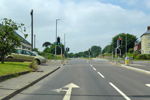 A30 traffic lights, Shaftesbury