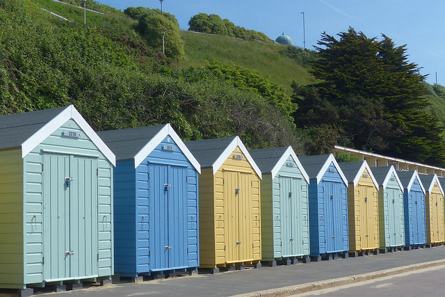 Beach huts, West Cliff, Bournemouth
