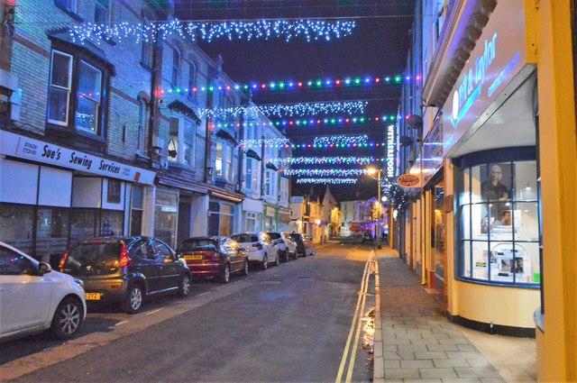Christmas lights, Teignmouth