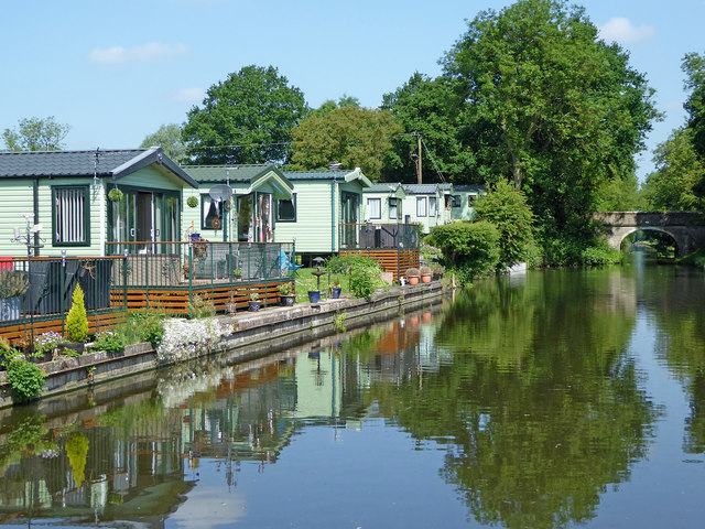 Mobile home park near Brewood, Staffordshire