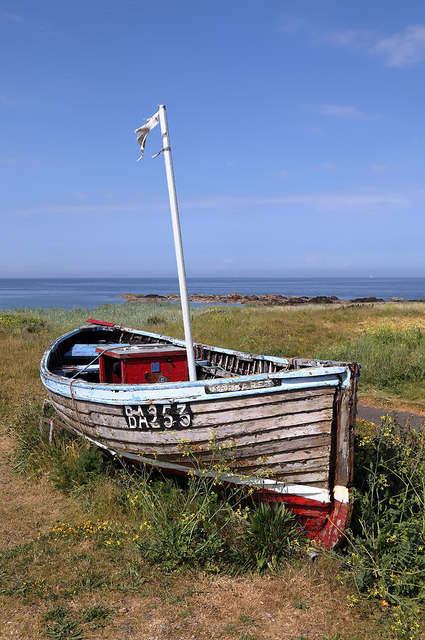 An old boat at Ballantrae Harbour