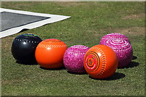 NS2007 : Bowls on Maidens bowling green by Walter Baxter