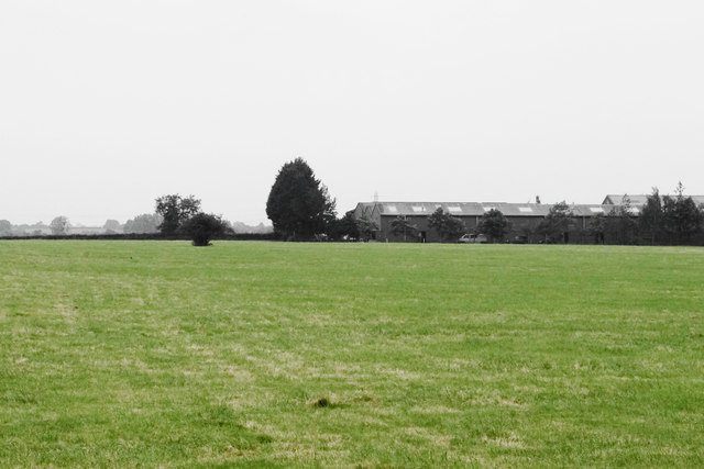 Close cropped field near Hardwicke
