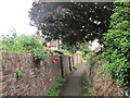 SP0849 : Footpath from the church, Cleeve Prior by Jonathan Thacker