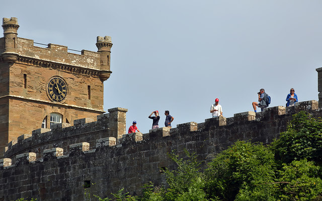Taking in the view from Culzean Castle
