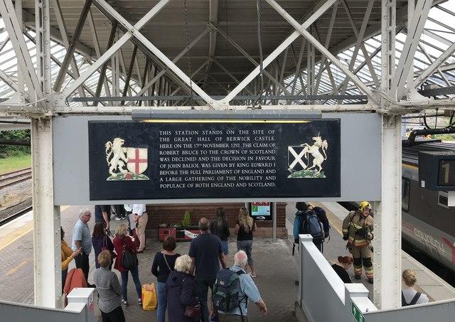 Historical information at Berwick Station