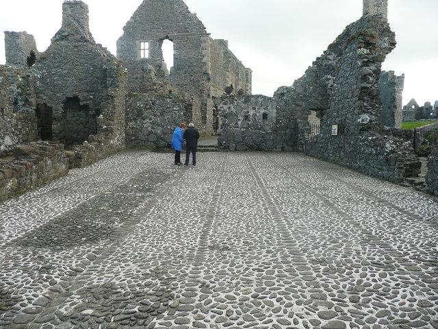 The inner ward, Dunluce Castle