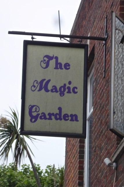 The sign of The Magic Garden
